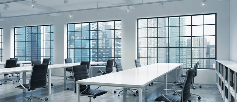 Office showing space management