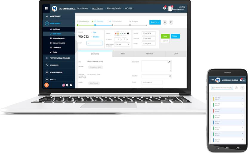 CMMS work order software screenshot