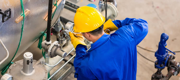 Preventive maintenance work on equipment